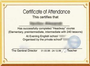 Сертификаты, подтверждающие уровень английского языка